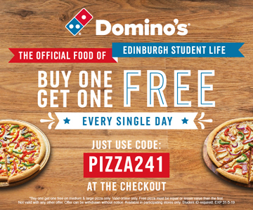 Buy One, Get One FREE with Domino's Pizza