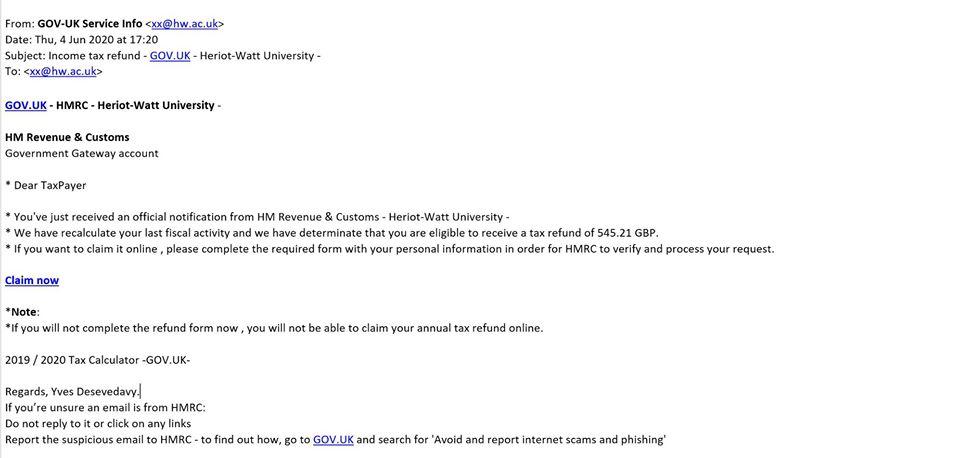 Beware Of Tax Scam Edinburgh Napier Students Association