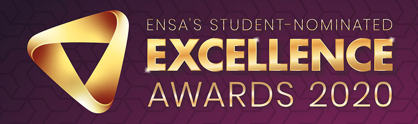ENSA student-nominated excellence awards 2020 logo